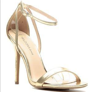 Wild Diva Lounge Gold Sandals